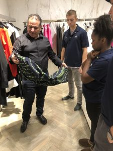 Jason Training Employees at Bal Harbour Shops